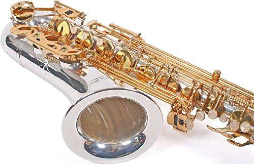 Karl Glaser Tenor Saxophon, silber/gold, mit Koffer