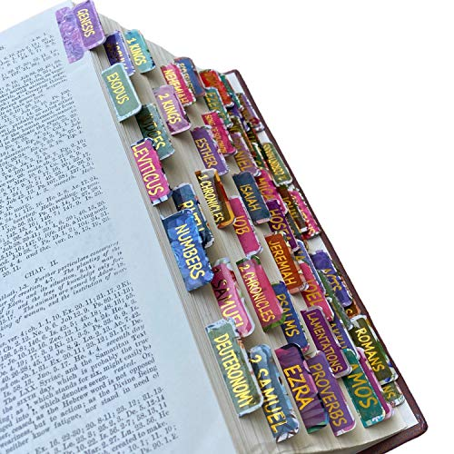 Mr. Pen- Bible Tabs, 75 Tabs, Laminated, Bible Journaling Supplies, Bible Tabs Old and New Testament, Bible Tabs for Women, Bible Tabs for Journaling Bible, Bible Book Tabs, Books of The Bible Tabs