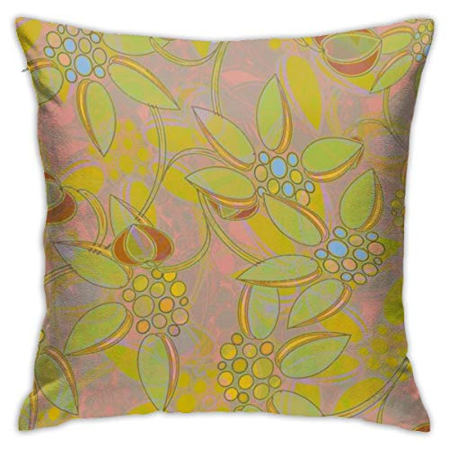 asdew987 Large Scale Floral Heather Cushion Cover Decorative Throw Pillow Case Covers Square Pillowcase for Home Sofa Couch Bed Living Room Car Decor 45 * 45cm