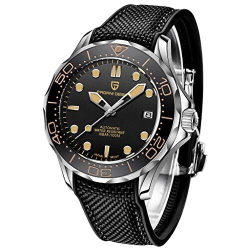 Pagani Design 1667 Marca de Moda Relojes automáticos para Hombres Relojes mecánicos de Negocios de Moda para Hombres Reloj Deportivo Impermeable 100M