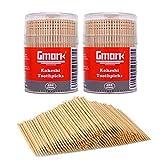 Gmark 妻楊枝 爪楊枝 つまようじ 木製こけし 7cm 800本(400本入× 2個組) 環境にやさしい GM1068