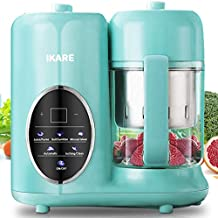 Baby Food Maker- IKARE 8 in 1 Self Clean Baby Food Processor Blender Grinder Steamer with Detachable Water Tank and Steam Basket & Bowl - Touch Control Panel -Cooks Baby Food in 15 Mins.