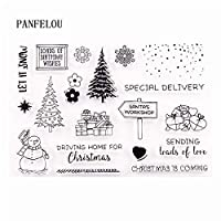 クリスマスパーティー透明なクリアシリコーンスタンプ/シールDIYスクラップブッキング/フォトアルバム装飾的なクリアスタンプシート