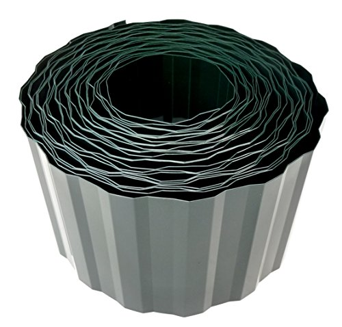 EXCOLO 9 m Rasenkante 15 cm hoch Beeteinfassung Beetumrandung Raseneinfassung trapezform grün