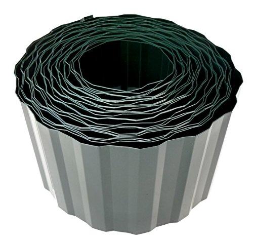 EXCOLO Rasenkante Beeteinfassung Beetumrandung 20cm hoch Rasenbegrenzung Raseneinfassung Mähkante grün