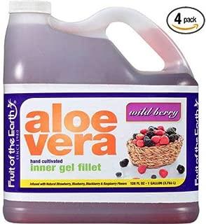 Fruit of the Earth Wild Berry Aloe Vera Juice, 128 Fl. Oz. Jug - Pack of 4