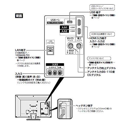 『シャープ ハイビジョン 液晶テレビ 外付けHDD対応 AQUOS 24V型 2T-C24AC2』の6枚目の画像