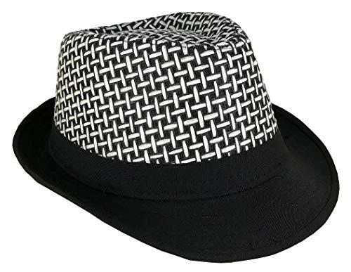 CLUB CUBANA Fedora Hüte Für Männer, Frauen, Unisex, Trilby Hut, Panama-Stil, für Sommer, Strand, Sonne, Jazz-Cap Schwarz