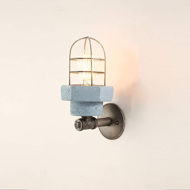 ZY Amerikanische   Nordeuropa wohnzimmer leuchtet europischen gang schlafzimmer nachttisch Moderne minimalistische E27 Glühbirne Edison Glühbirne Durchmesser 15 & times; Hhe 32cm (Farbe  Blau)