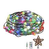 Guirnalda Luces Cadena de Luces LED, 10M 100 LED Decoración Colorida Estante Estrella,IP66 Impermeable, Luces Navidad USB y Luces de Hadas para Decorativas para Decoración Navidad, Terraza, Festivales