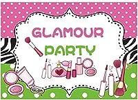 グラマーパーティーの背景スパ日メイク誕生日バナーの装飾十代の少女プリンセス1番目の甘い16番目のベビーシャワーCorjl写真の背景の供給好意ギフトPhotoboothプロップ7x5FT