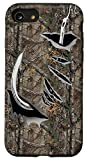iPhone SE (2020) / 7 / 8 Fish Hook Realtree Camouflage Fabric Case Funny Fishing Case