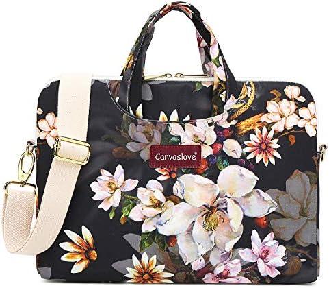 Canvaslove Oil Painting Flower Water Resistant Laptop Shoulder Messenger Bag Case for MacBook product image