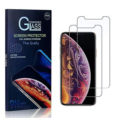 The Grafu Verre Trempé pour iPhone 11 Pro, 3D Touch Film Protection Écran Vitre, Dureté 9H Protection en Verre Trempé Écran pour iPhone 11 Pro, 2 Pièces