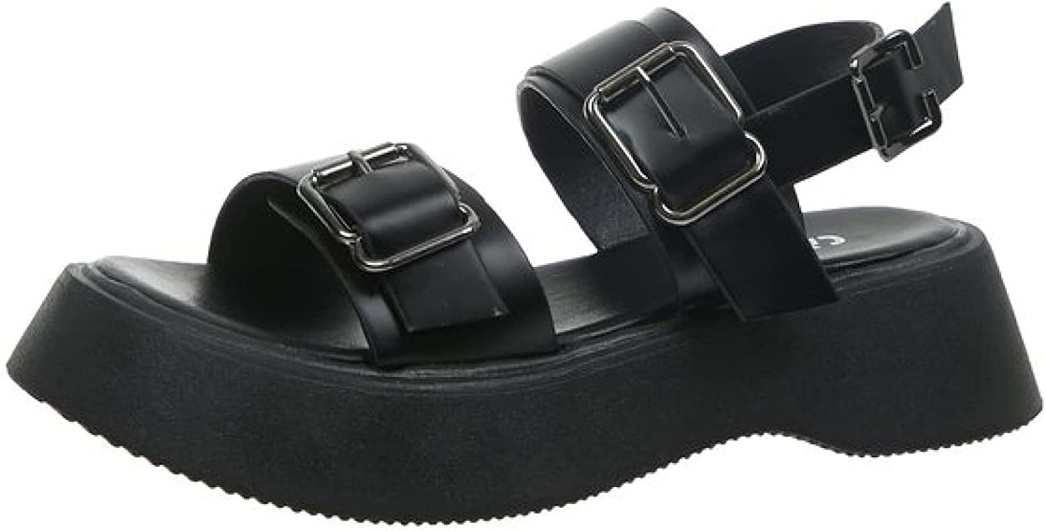 Women's Wedge Japan Maker New Sandals Wider Width Open Strappy Large-scale sale N Toe Buckle Vamp