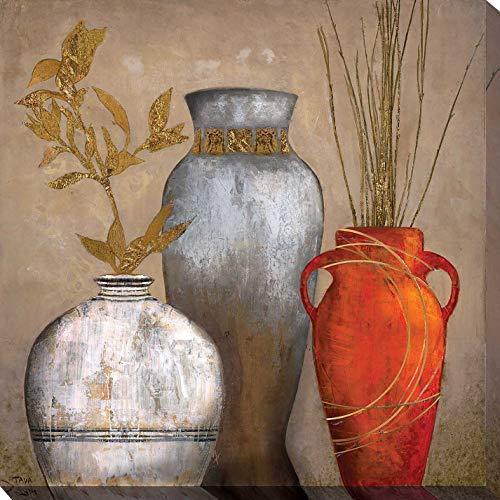 """Picture Perfect International Mia Casa Portofino I by Tava Studios Print Canvas Art, 28"""" x 28"""" x 1.5"""", Brown"""