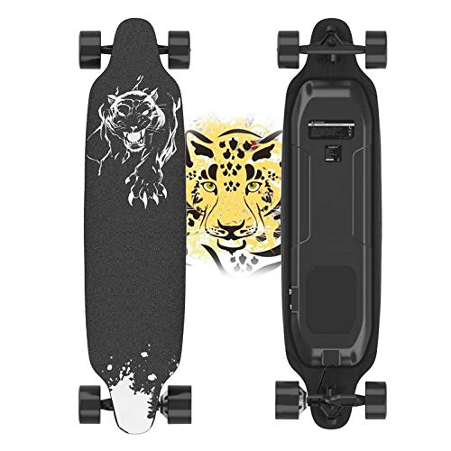 URBANPRO Electric Skateboard with Remote Control, 400W Brushless Motor Longboard, 20 MPH Top Speed, 10 Miles Range, 3 Speed Adjustment, Load up to 265 Lbs, 11 Layers Maple Longboard