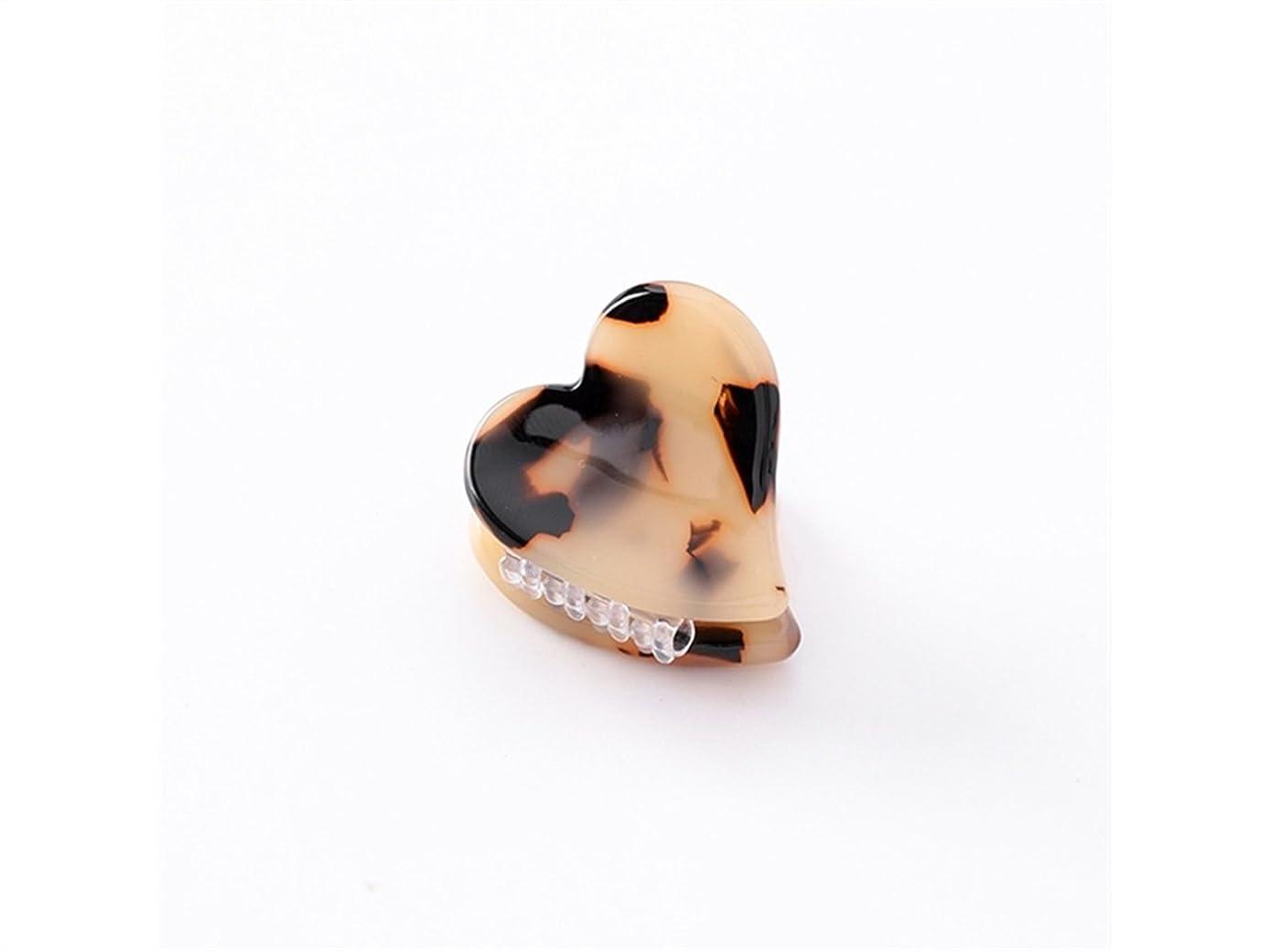 しないギャロップ派手Osize 美しいスタイル ラブハート型のマーブルプリントミニ爪クリップミニ顎クリップ(ヒョウプリント)
