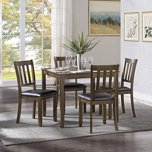 Lexicon Hedley 5-Piece Dining Set, Charcoal Brown