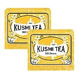 Kusmi Tea Té verde aromatizado con pomelo, yerba mate, hinojo y diente de león - 2 x 20 bolsitas de té (88 gramos)