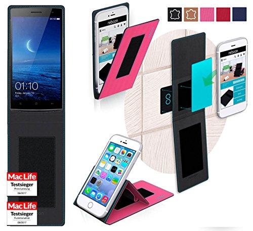 reboon Hülle für Oppo Find 7a Tasche Cover Case Bumper   Pink   Testsieger