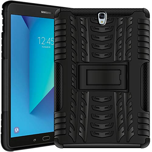 Verco Hülle für Samsung Galaxy Tab S3 9.7, Outdoor Schutzhülle Armor Tablet Hülle Cover [T820 T825], Schwarz