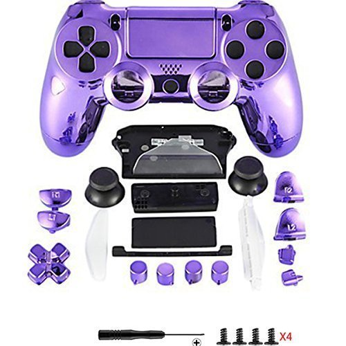 Canamite® - Cover per joystick Playstation PS4, 4 DualShock, 4 Controller, cromato, PS4, 5#