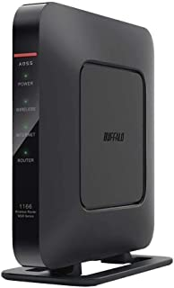 バッファロー WSR-1166DHP4-BK 無線LAN親機 11ac/n/a/g/b 866+300Mbps ブラック