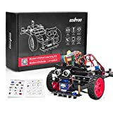 OSOYOO Model 3 Robot Car DIY Starter Kit for Arduino | Remote Control App Educational Motorized Robotics for Building Programming Learning How to Code | IOT Mechanical Coding for Kids Teens Adults