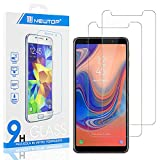 N NEWTOP [2 Pezzi] Pellicola GLASS FILM Compatibile per Samsung Galaxy A7 2018, Fina 0.3mm Durezza 9H in Vetro Temperato Proteggi Schermo Display Protettiva Anti Urto Graffio Protezione