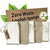 Natural Loofah Dish Sponge Set - Earth Friendly Plant Based Sponges for Dishes are Super Durable & Great for Scrubbing - Biodegradable, Compostable, Vegan Long Lasting Kitchen Sponge - 5 Pack