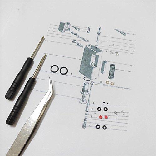 DUMHILL Feuerzeug-Reparatur-Set für Rollagas-Feuerzeug, für 2 Feuerzeuge, Vintage-Stil, O-Ring-Werkzeuge