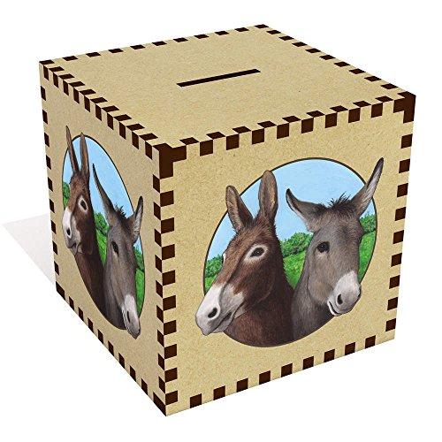Azeeda Groß 'Zwei Esel' Sparbüchse / Spardose (MB00065618)