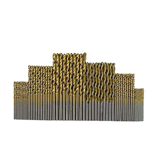 Spiralbohrer Qutaway 60 Stücke HSS Micro Bohrer Set 1/1,5/2/2,5/3/3,5mm Titan Metall Bit Werkzeug für Kunststoff Holz und Aluminium (60 Pack)