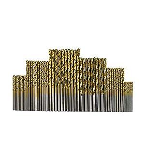 Twist Drill Bits Qutaway 60 Piezas Juego de brocas HSS Micro 1/1.5/2/2.5/3/3.5mm Herramienta de brocas de titanio para madera y aluminio (60 piezas)