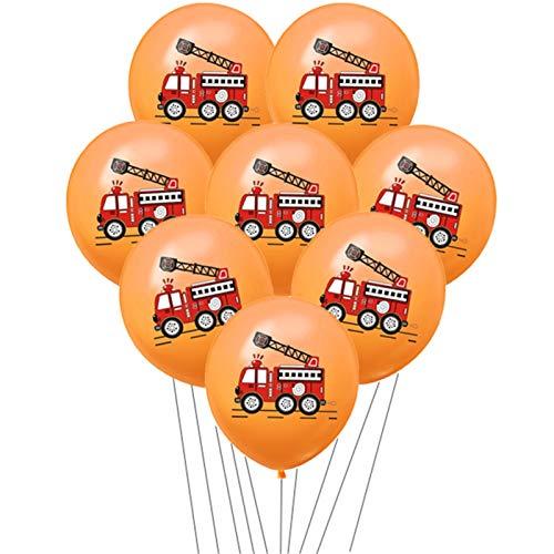 JZYZSNLB Globos Globo Dibujos Animados Látex Ballon Niños Decoración Niños Niños Fiesta de cumpleaños Vajilla Desechable (Color : 10pcs Orange Set)