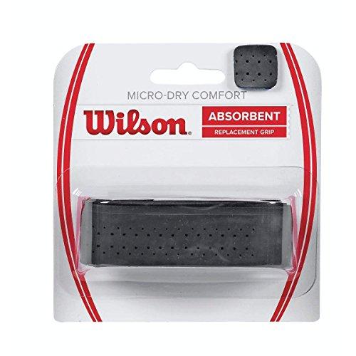 Wilson Grip WRZ4211BK Impugnatura Micro-Dry Comfort, Grip Base, Unisex, Nero, 1 Unità