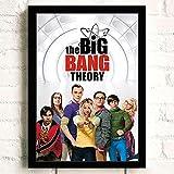 Arte De Lienzo 50x70cm Sin marco The Big Bang Theory serie de televisión pintura de pared decoración del hogar lienzo impresiones cartel