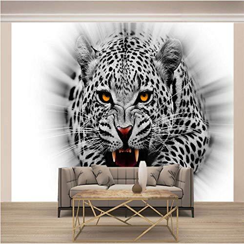 Papel Pintado Pared Gris Leopardo Marca QDDRL
