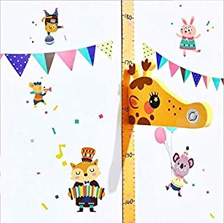 Baby Growth Chart 3D, Removable Height Measurement Growth Ruler Wall Decor for Kids [Yellow Deer]