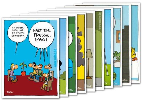 Postkarten A6 +++ MIX SET Nr. 1 von modern times +++ 10 lustige RALPH RUTHE-Cartoons +++ KÖPENICKER CG © RUTHE, Ralph/SHIT HAPPENS