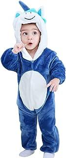 Michley Baby Strampler mit Tier Kapuze Overall Mädchen und Junge Jumpsuit Bekleidung für 0-24 Monate