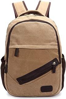 Daypacks Backpack Purse High School Student Student Commuter School Girl Lightweight High Capacity Waterproof Mens Backpack (Color : Khaki)