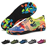 GREMBEB Women Water Shoes,Men Quick Dry Beach Wear,Girl Workout Barefoot,Summer Couple Seaside Exercise Sport Shoes for Swimming,Running,Fishing,Diving,Surfing,Yoga Orange