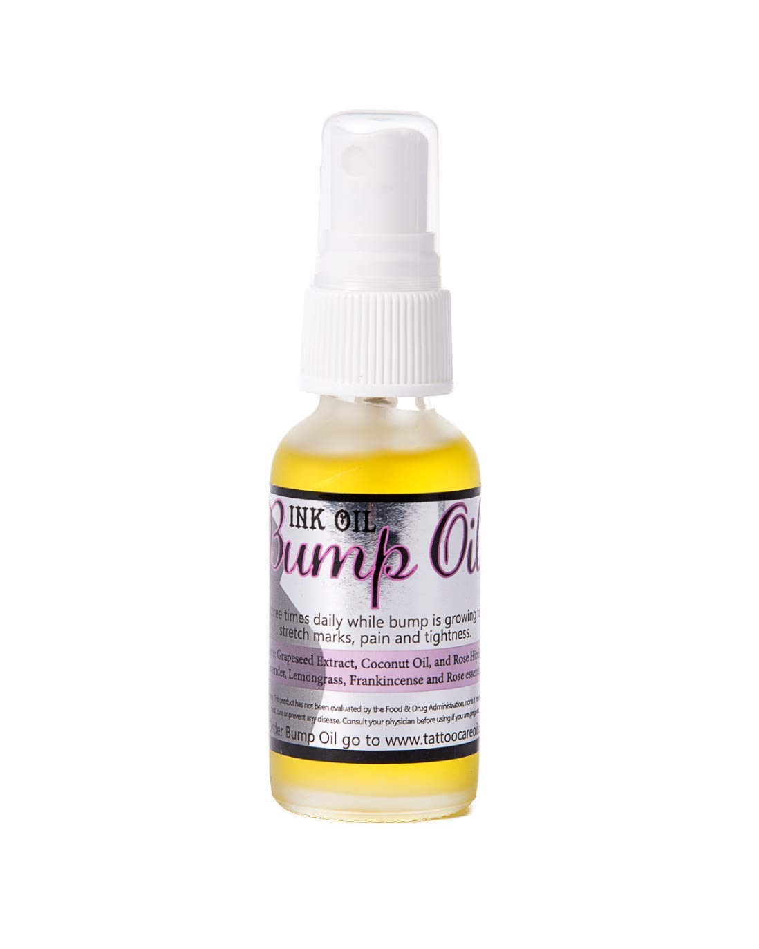 Bump Oil by Ink Oil | Revitalizing Stretch Mark Oil | Works like Belly Cream for Pregnancy to Help with Prevention and Reduction of Stretch Marks | Improve Scars & Cellulite 100% Natural