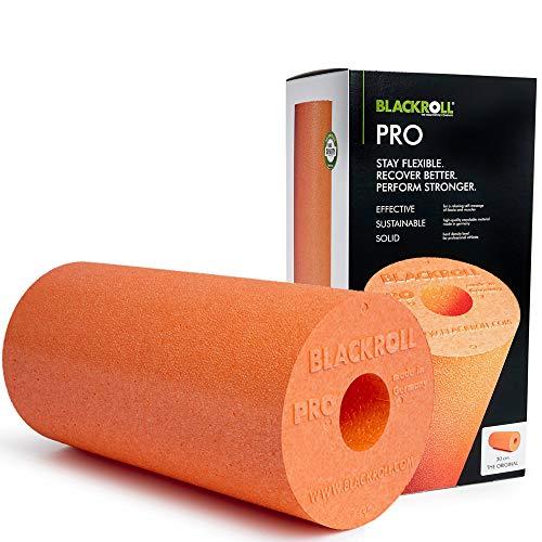 BLACKROLL® PRO Faszienrolle - das Original (Härtegrad hart) - Die Profi-Selbstmassage-Rolle für die Faszien in orange + Übungskarte