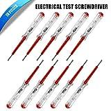 BE-TOOL - 10 tester per circuito di rete, tester elettrico a penna, cacciavite, tester di ...