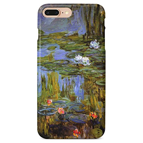 Monarque iPhone Case with Smooth Premium Durable Scratch-Resistant TPU Material with Lilies - Monet