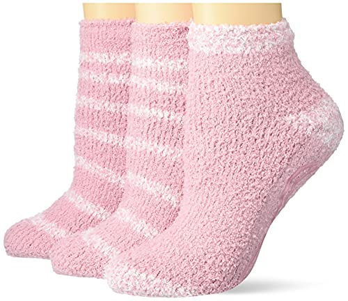 Dr. Scholl's Women's Soothing Spa Low Cut Gripper Socks, 3 Pack, Pink, Shoe Size: 4-10