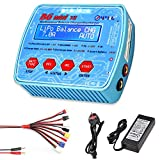 HTRC Lipo Battery Charger, 80W 7A 1S - 6S B6 Mini V2 Balance Charger Discharger for Lipo Life Lilon LiHV NiCD NiMH Pb Smart Hobby Battery with XT60 EC3 Multi Cables